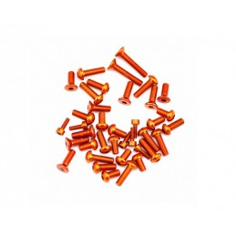 SCREW SET ALU TOP/SIDE ORANGE 748 (38)