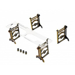 SET-UP SYSTEM 1/10 TOURING CARS WITH BAG BLACK GOLDEN LIMITED EDITION