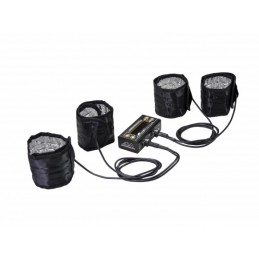 AM Tyre Warmer (1/8th) & Batt Warmer With Bag Black Golden