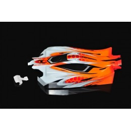BODY 1/8 COBRA E-BUGGY ORANGE