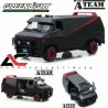 Greenlight - 1/18 - GMC - VANDURA CARGO G.SERIES VAN - A-TEAM - 1983 - BLACK GREY MET RED